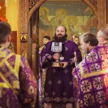 Архиерейское богослужение в храме Космы и Дамиана в Космодемьянском